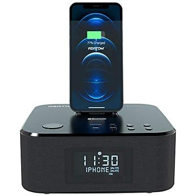Radio Alarm FM Bluetooth speaker 30W Lightning Docking station for & iPad mini (Black) by Azatom