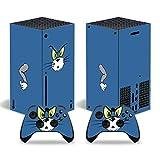 YIBAO Xbox Serie X Vinilo Pegatinas, Consola Xbox Serie X Y 2 Pegatinas De Controlador Pegatinas Fácil De Operar, Vinilo.Material Esmerilado, Sin Residuos De Pegamento