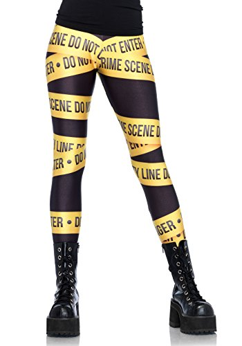 Leg Avenue Crime scene leggings, zwart geel