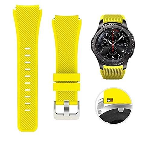TYLC 22mm Banda de Silicona Reloj for la Galaxia de Samsung de 46 mm Deportes de la Correa for Samsung S3 Engranaje Frontier/clásico Reloj Huawei 160