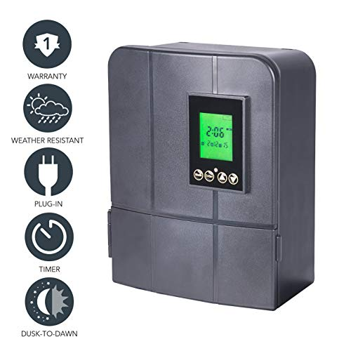 Paradise By Sterno Home Gl33300 12v 300w Low Voltage Landscape Lighting Transformer With Dusk To Dawn Timer Buy Online In Faroe Islands At Faroe Desertcart Com Productid 31905096