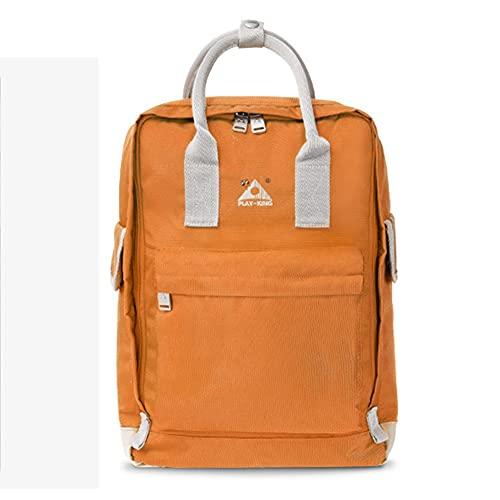 SANLAI Mochila Unisex Mochila Plegable Silla Taburete Bolsos portátiles de Viaje para portátiles Mochila Escolar para Adolescentes de Paquete al Aire Libre de Senderismo,Naranja