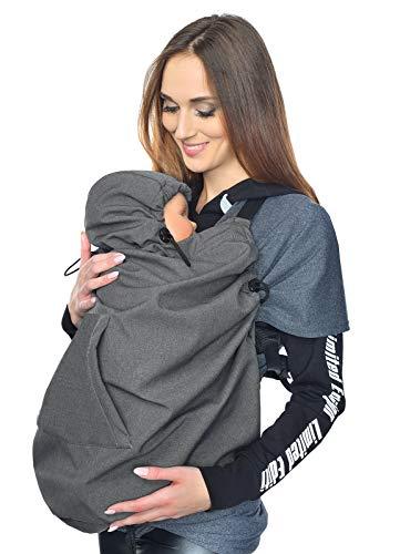 MijaCulture Softshell Tragecover, Universal Bezug für Baby Carrier Tragetücher Cape 4113 (Graphite)