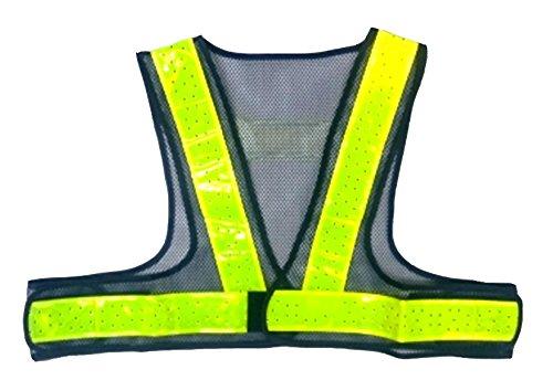 安全ベスト ショート丈夏用サマーベスト 紺メッシュ黄色(反射)ライン SV50-BL-S
