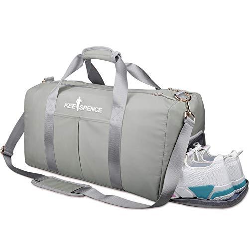Sporttasche mit Schuhfach und Nassfach für Damen, Schwimmsport, Reisen, Turnbeutel, 49 cm