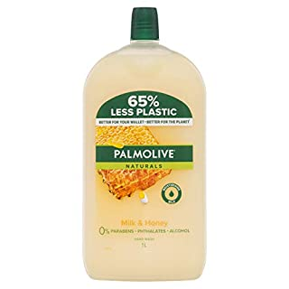 Palmolive Naturals Liquid Hand Wash Soap 1L, Milk & Honey Refill and Save, with Moisturising Milk, No Parabens Phthalates and Alcohol, Recyclable Bottle (B0778TSHXR) | Amazon price tracker / tracking, Amazon price history charts, Amazon price watches, Amazon price drop alerts