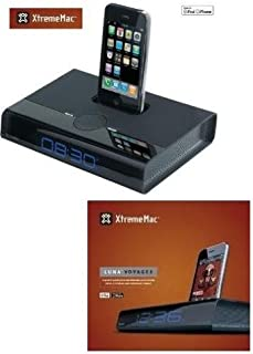 Xtreme Mac Luna Voyager Speaker System for iPhone and iPod and Alarm Clock (Black) 749720019977