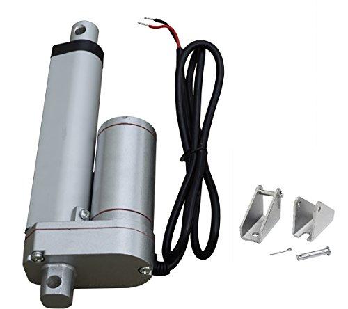 ECO-WORTHY 12V Moteur linéaire Actionneur Heavy Duty 330lbs Tracker Multifonction Solaire pour Electroic, Medical, Utilisation Automatique (10,2 cm Standard) 4inch