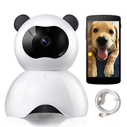 MRXUE Baby Monitor - Huisdier Camera - IP Camera voor Hond Kat - 1080P Full HD Draadloze Beveiliging Panda Camera Gratis Geef SD-kaart: 32G