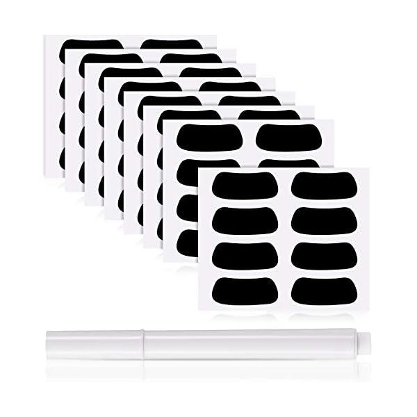 48 Pairs Eye Black Strips Sports Black Eye Stickers Breathable Eye Black Strips with...