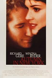 Autumn in New York Movie Poster (27 x 40 Inches - 69cm x 102cm) (2000) Style B -(Richard Gere)(Winona Ryder)(Anthony LaPaglia)(Elaine Stritch)(Vera Farmiga)(Sherry Stringfield)