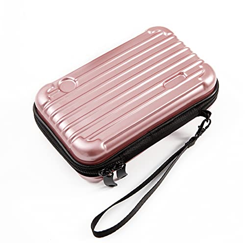 SenYang Hard Shell Cosmetic Case,Carrying Hard Bag, Protective Storage Case Bag for Toiletry, Beauty Makeup, Electronic Accessories, Overnight Travel Water Resistant Crash Proof