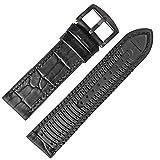 Chtom 18mm Dicke Gummi-Silikon-Watch-Band-Band-Rennreifen-Bereitstellungsverschluss (Color : Black, Size : -)