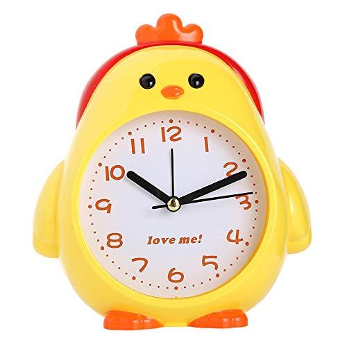 LLDKA Dual snooze-waarschuwing stille nachthemels spreken cartoon studeerende kinderen slaapkamer nachtlampje wekker