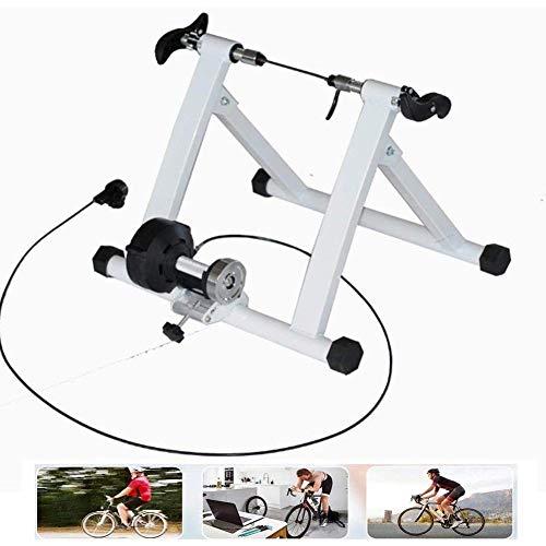 LXDDP Faltbares Fahrrad Magnetischer Turbotrainer Übung Fitness-Training Indoor Stationärer Übungsrahmen Fitness Einstellbar Verwenden Sie Ihr Fahrrad als Heimtrainer