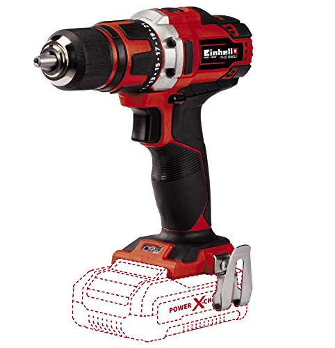 Einhell Akkuschrauber TE-CD 18/40 Li-Solo Power X-Change (Li-Ion, 18 V, max. 40 Nm, 2-Gang-Getriebe, Drehzahl-Elektronik, Softgrip, ohne Akku und Ladegerät)