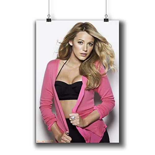 Blake Lively Actress Movie Photo Poster Prints 251-003,Wall Art Decor for Dorm Bedroom Living Room (A4|8x12inch|21x29cm)