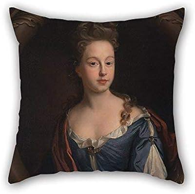 N\A Fundas de Almohada de Pintura al óleo John Riley - Frances Hales Mejor Ajuste para cumpleaños Interior Saloon Bench Lover Gril Friend Two Sides
