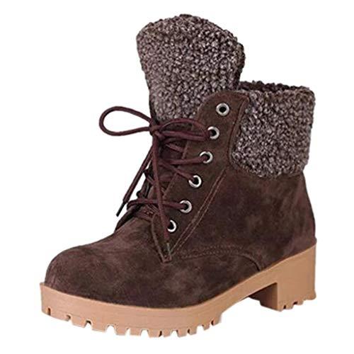 Luckycat Hombre Mujer Botas de Nieve Senderismo Impermeables Deportes Trekking Zapatos Invierno Forro Piel Sneakers Forro Calentar Antideslizante Tobillo Zapatos de Al Aire Libre Calientes Botines