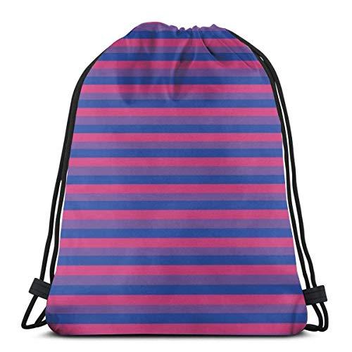 Lsjuee Shoulder Drawstring Bag Gay Pride Print Backpack Sport Bag String Bags School Rucksack Gym Lightweight