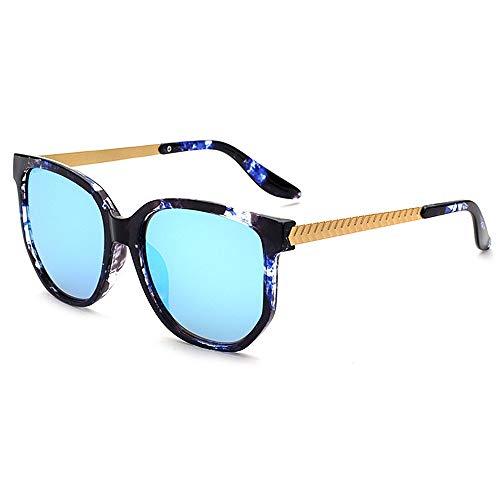 ENH Frauenbrille Übergroße Unisex Sonnenbrille UV-beständig Retro Style Farbe Objektiv Ultralight Rahmen Fahren Reise (Color : C7)