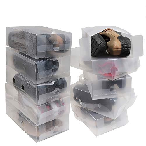 Kurtzy Pack 10 Cajas Guardar Zapatos Plástico Corrugado Transparente Por Kurtzy - Organizador...