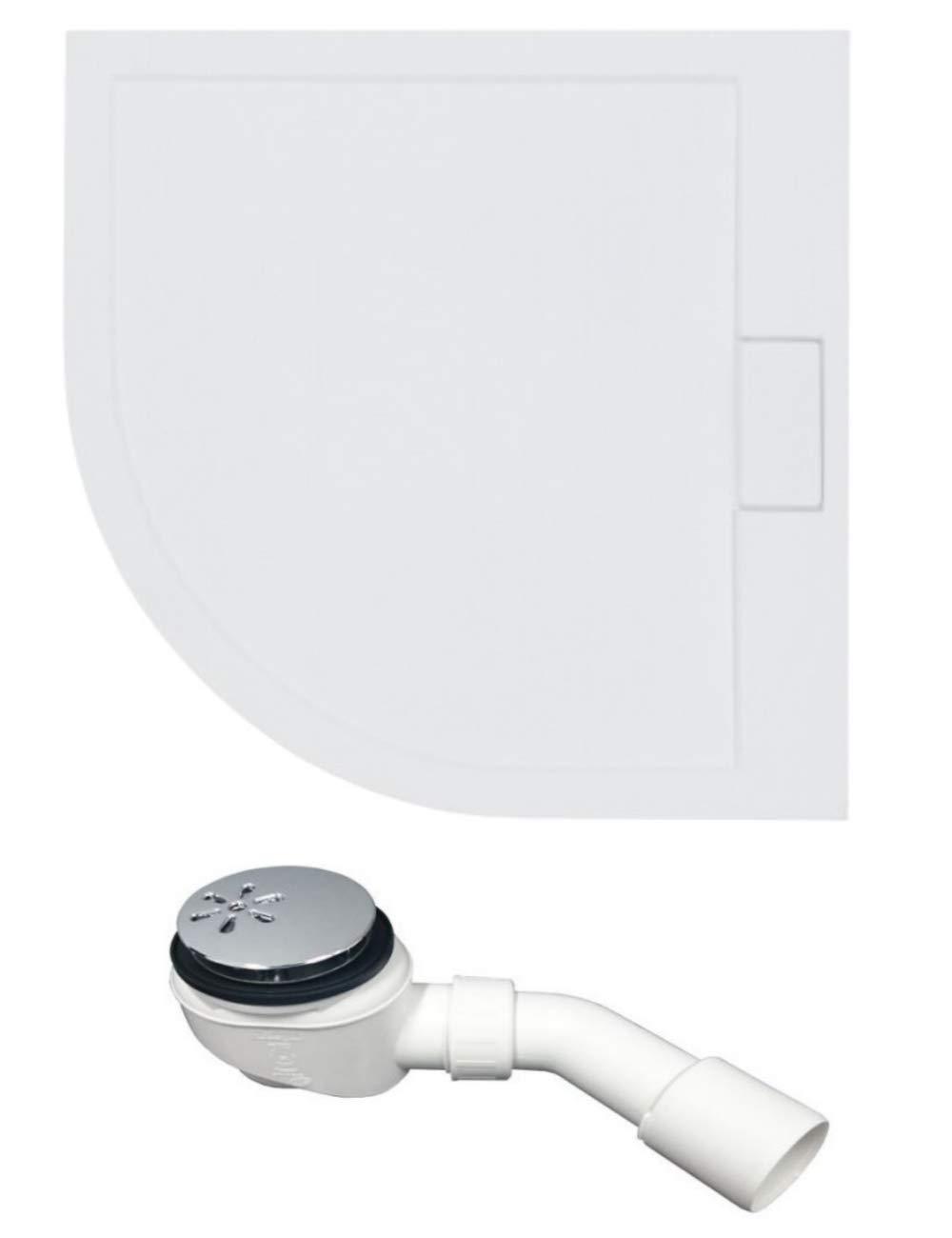 Plato de ducha VBChome de 80 x 80 cm, muy plano, acrílico ...