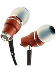 Symphonized NRG X Premium Genuine Wood Earbuds, in-Ear Noise-Isolating Headphones, Earphones with Angle-Fit Ear Tips, in-line Microphone and Volume Control, Stereo Earphones