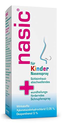 nasic für Kinder Nasenspray mit dem Wirkplus – Abschwellendes & wundheilungsförderndes Schnupfenspray für Kinder ab 2 Jahren – Mit Xylometazolin & Dexpanthenol – 10 ml