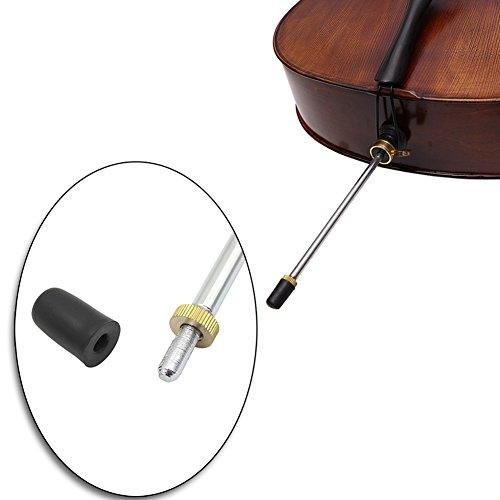 Alomejor 5stks Cello Einde Pin Tip Antiwear Cello Rubber Protector Cap Anti-lip Mat voor Cello Gestreepte Instrumenten