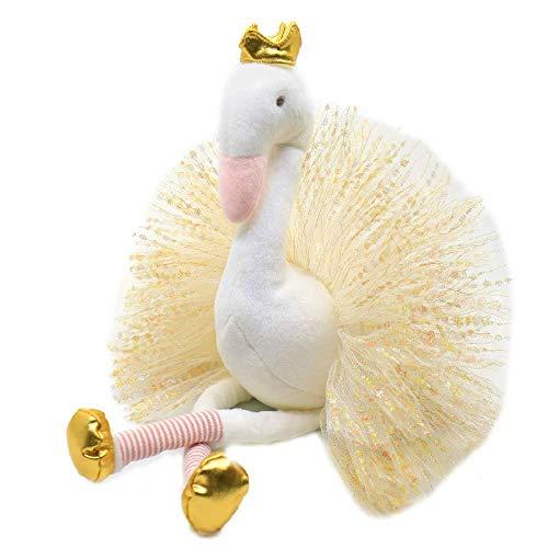 Juguetes de Peluche 40cm Vestido de Cisne del Animal Relleno Felpa Juguetes con Brillo Tutu alas Precioso Regalo de cumpleaños for la niña Soft Home Accesorio Hslywan