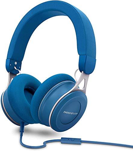 Energy Headphones Urban 3 Mic Blue (Deep Bass, Almohadillas extracómodas, Acabados metálicos, Control por Voz)