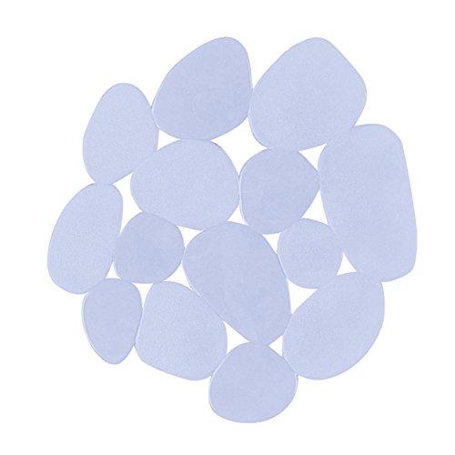 MSV 141208 Cailloux Pad Antidérapant avec Ventouses PVC Transparent 13 x 12,2 x 15 cm