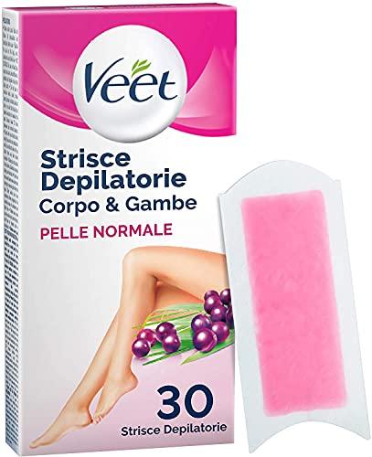 Veet Strisce Depilatorie per Gambe, Braccia, Ascelle e Zona Bikini, Confezione da 30...
