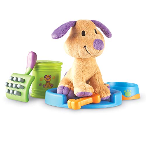 Learning Resources New Sprouts Puppy Care Play Set, First Pet, Imaginative Play, 6 Piece Set, Ages 2+