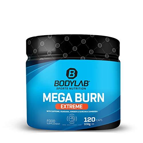 Bodylab24 Mega Burn Extrem 120 Kapseln | Unterstützung für Diät und Definition | Für Frauen und Männer | Koffein, Guarana, Ingwer und Garcinia Cambogia