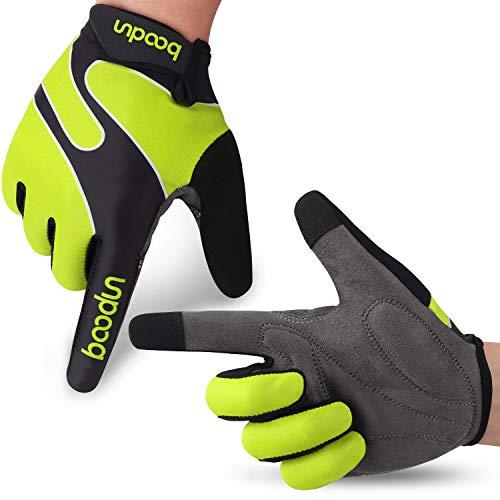 Fahrradhandschuhe Radsporthandschuhe rutschfeste und stoßdämpfende Mountainbike Handschuhe mit Signalfarbe geeiget unisex Herren Damen