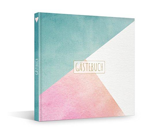FRUITPRINTS BlueberryBooks - Hardcover Gästebuch - Pastell - für 40 Einträge - vorgegebene Fragen...