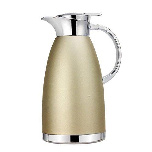Haosens 1,8 Liter Edelstahl Doppelschicht Vakuum kaffeekanne Haushalt thermosflasche Europäischen Stil thermosflasche - Heiß und kalt dual Gebrauch (Khaki Gold)