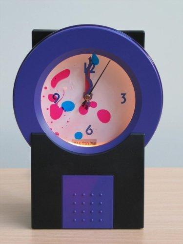 Dekortions-Uhr-Leuchte-Lampe mit in Flüssigkeit bewegende farbliche Öl LAVA-UHR lila/schwarz Tisch-Fensterbank-Fernseher-Stimmungs-Party-Leuchte-Lampe