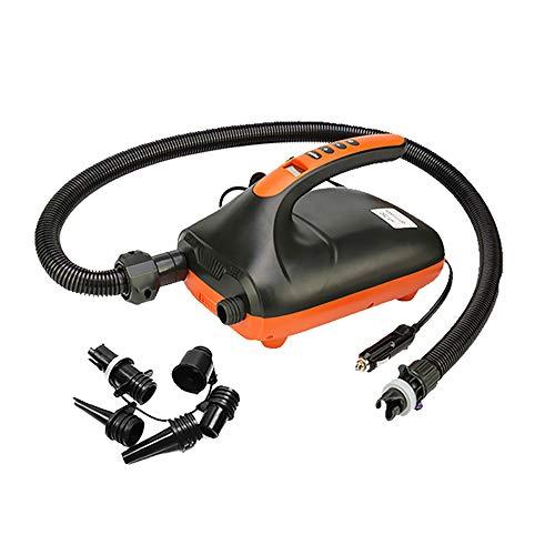 Pompe à air électrique SUP 20 PSI 12 V DC Pompe haute pression avec fonction intelligente d'arrêt automatique double étape pour gonfler paddle bateau, matelas gonflable, kayak, rafts