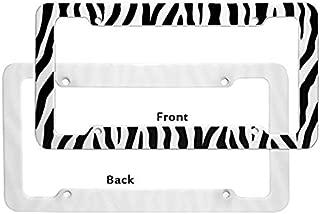 zebra license plate frames