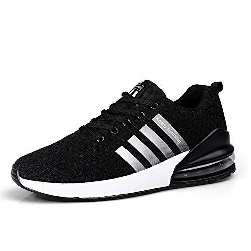 CXQWAN Chaussures de Marche légères pour Homme Antidérapant Résistant à l'usure Convient pour la Marche, la Gym, Le Jogging, Le Fitness athlétique, Noir, 46
