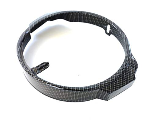 Boita 2.0 Ghiera cornice faro anteriore Vespa PX Arcobaleno Carbonio Nero Lucido