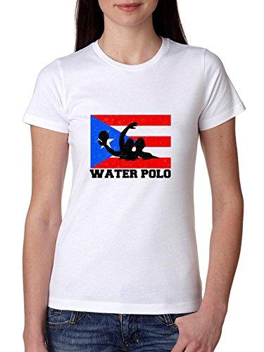 Puerto Rico Olympisch - Waterpolo - Vlag Dames Katoen T-shirt