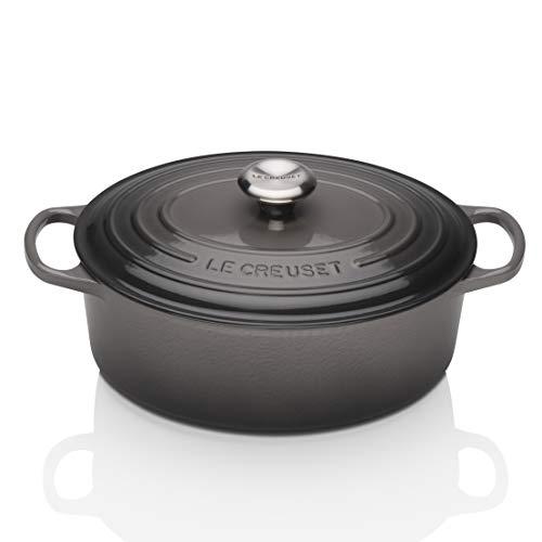 Le Creuset Enameled Cast Iron Signature Oval Dutch Oven, 5 qt. , Oyster