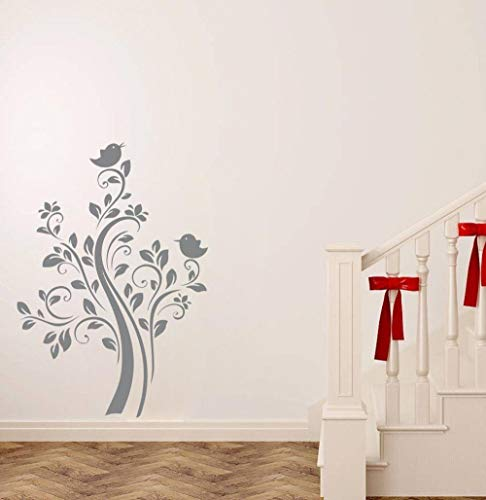 57x81 CM vinilo pared pegatina pájaro árbol extraíble pared pegatina dormitorio salón decoración de pared niños arte cartel