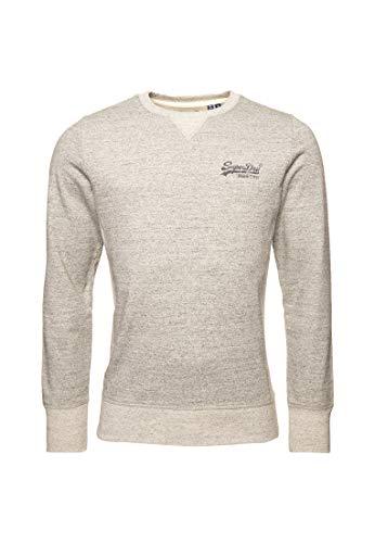 Superdry Herren Orange Label Interest Sweatshirt mit Rundhalsausschnitt Grau Strukturiert M