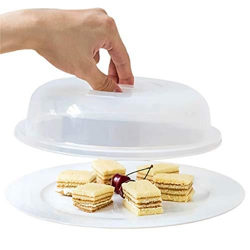 S/V Tapa para microondas de 23 cm, transparente, con ventilación de vapor, sin BPA, para frutas y verduras