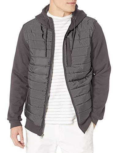 O'Neill Herren Sherpa Lined Full Zip Hooded Fleece Sweatshirt Jacket Fleecejacke, Burg Felsen/Shibuya, Small